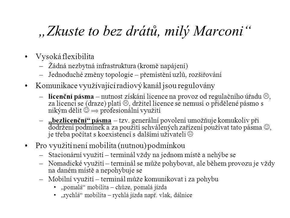 """""""Zkuste to bez drátů, milý Marconi"""