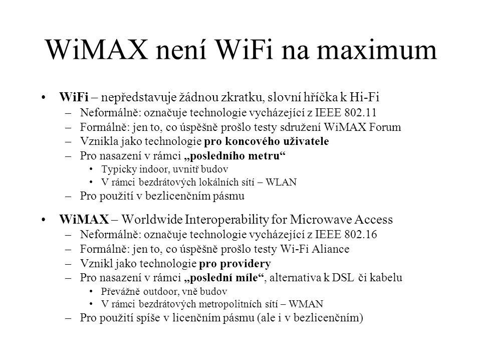 WiMAX není WiFi na maximum