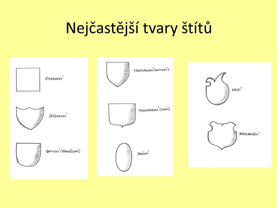 Nejčastější tvary štítů