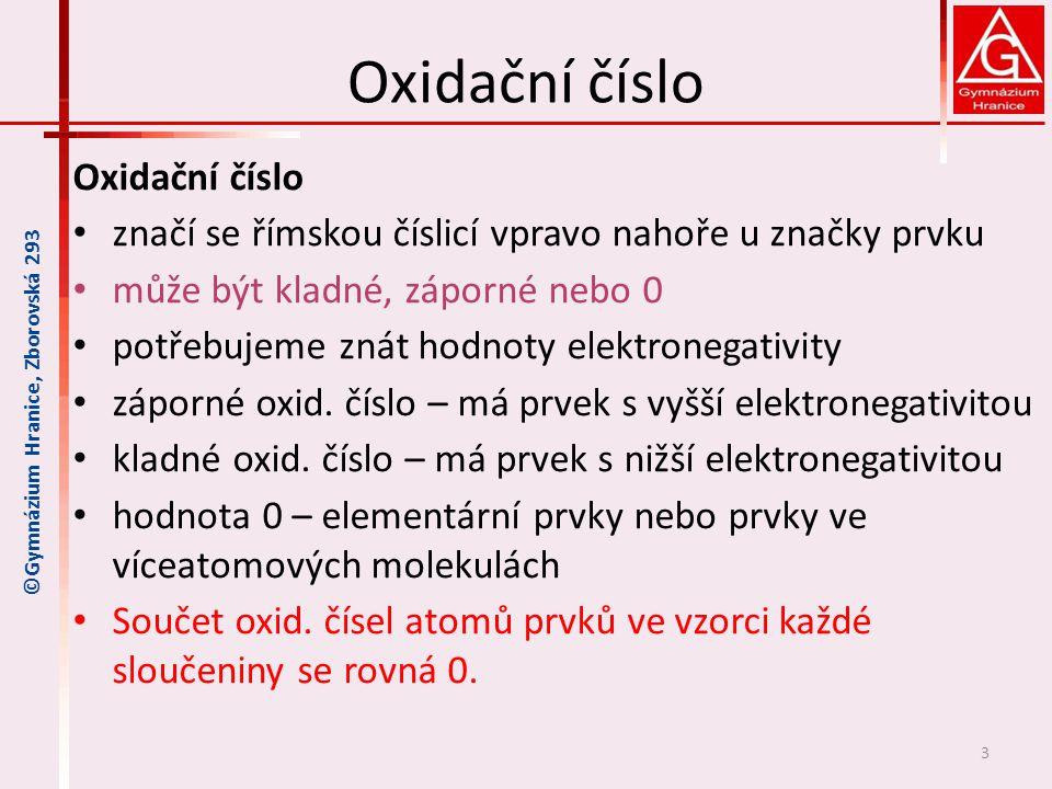 Oxidační číslo Oxidační číslo