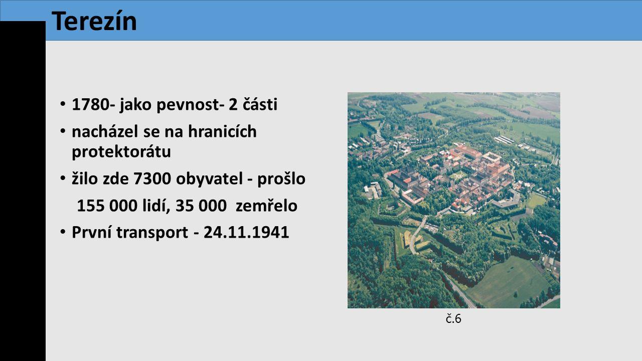 Terezín 1780- jako pevnost- 2 části
