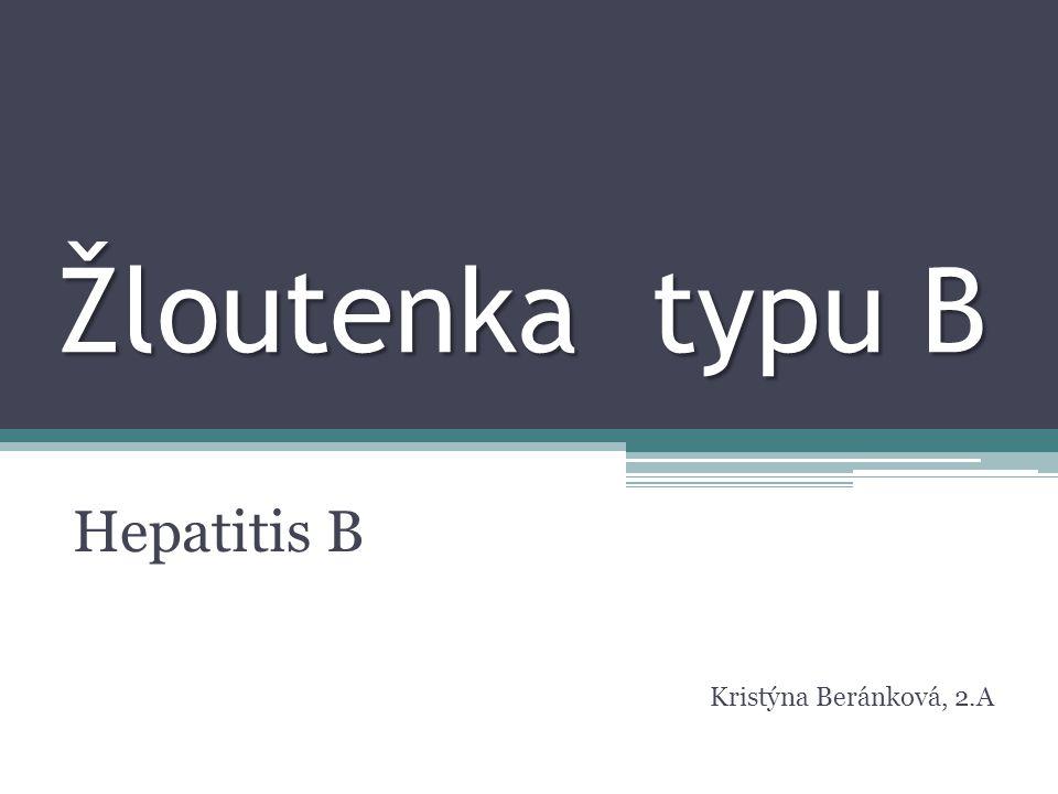 Hepatitis B Kristýna Beránková, 2.A