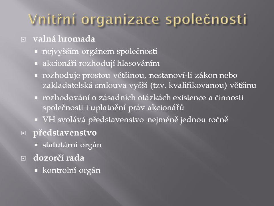 Vnitřní organizace společnosti