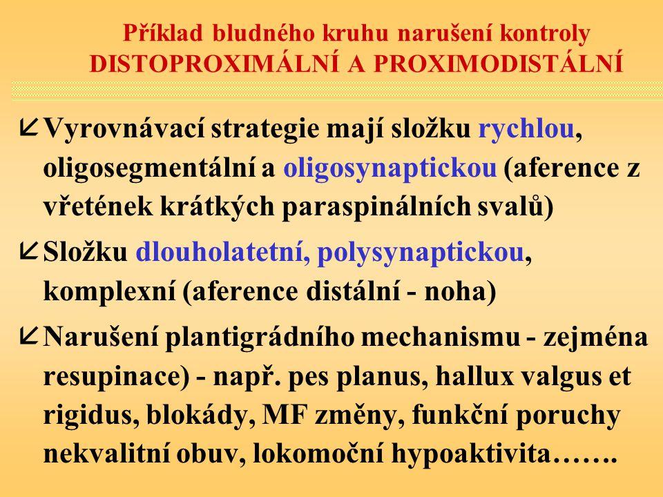 Příklad bludného kruhu narušení kontroly DISTOPROXIMÁLNÍ A PROXIMODISTÁLNÍ