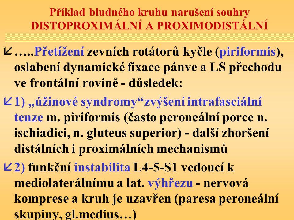 Příklad bludného kruhu narušení souhry DISTOPROXIMÁLNÍ A PROXIMODISTÁLNÍ