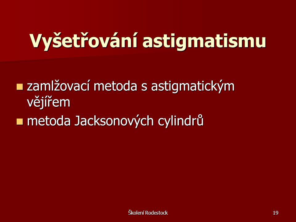 Vyšetřování astigmatismu