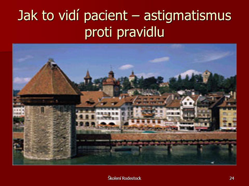 Jak to vidí pacient – astigmatismus proti pravidlu