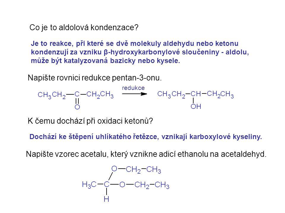 Co je to aldolová kondenzace