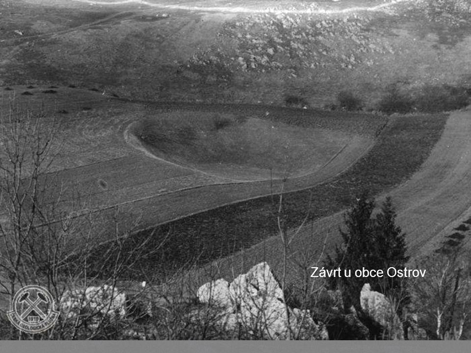 Ukázky závrtů Codron Walley – West Newfoundland