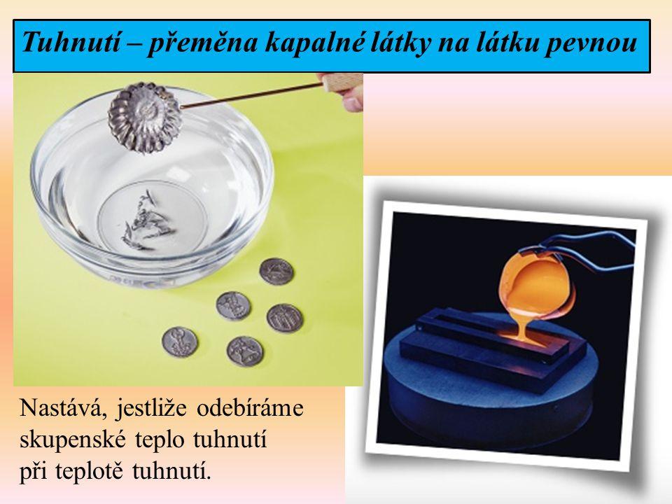 Tuhnutí – přeměna kapalné látky na látku pevnou