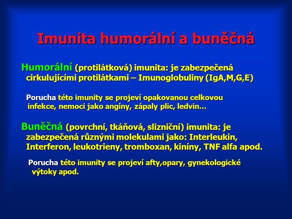 Imunita humorální a buněčná