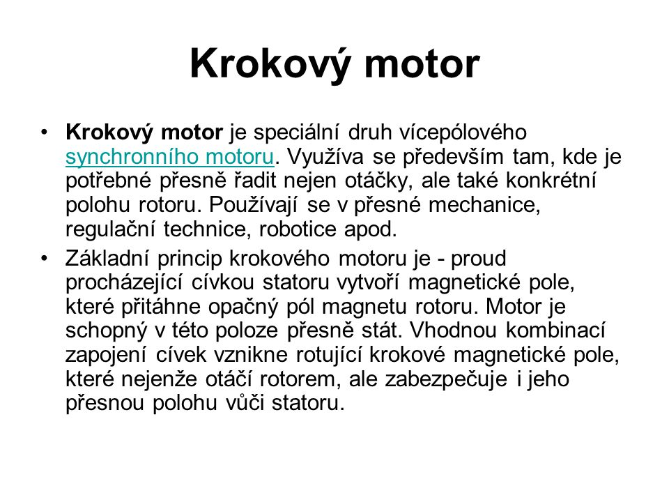 Krokový motor