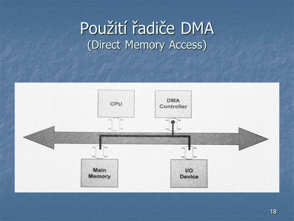 Použití řadiče DMA (Direct Memory Access)