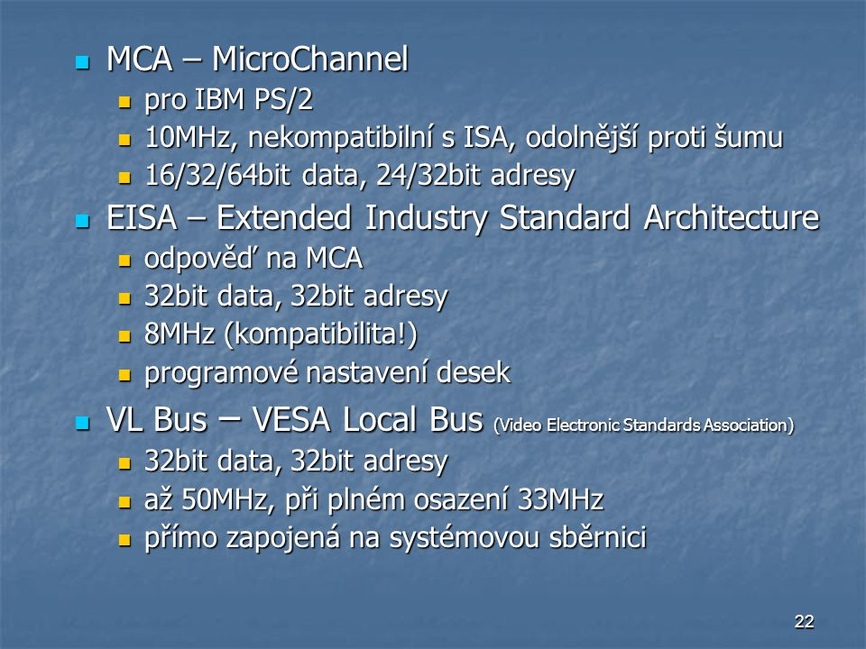 EISA – Extended Industry Standard Architecture