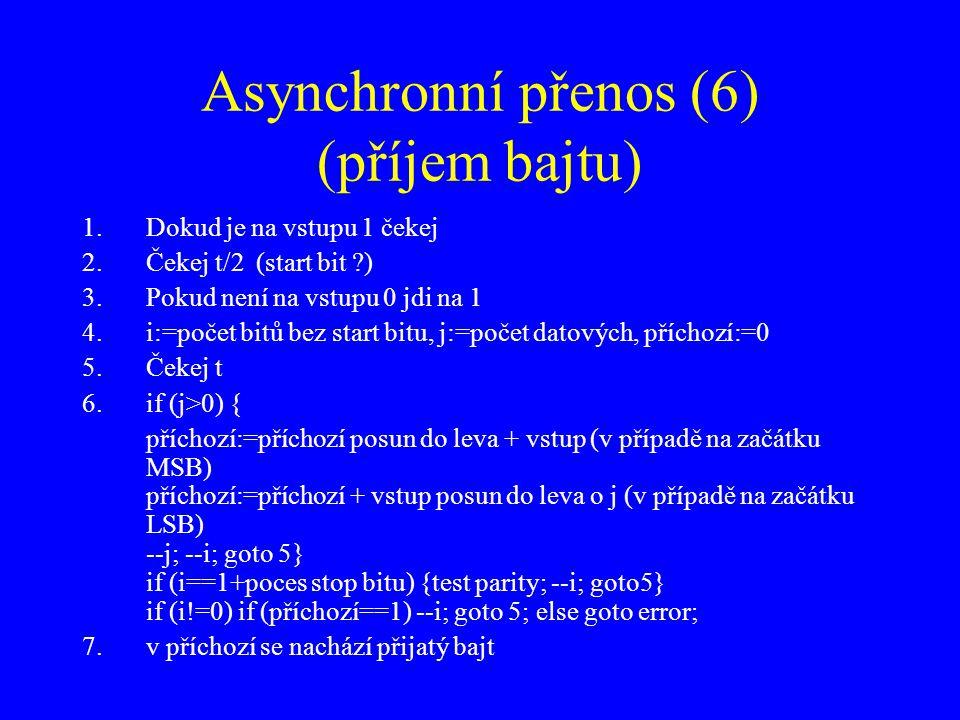 Asynchronní přenos (6) (příjem bajtu)