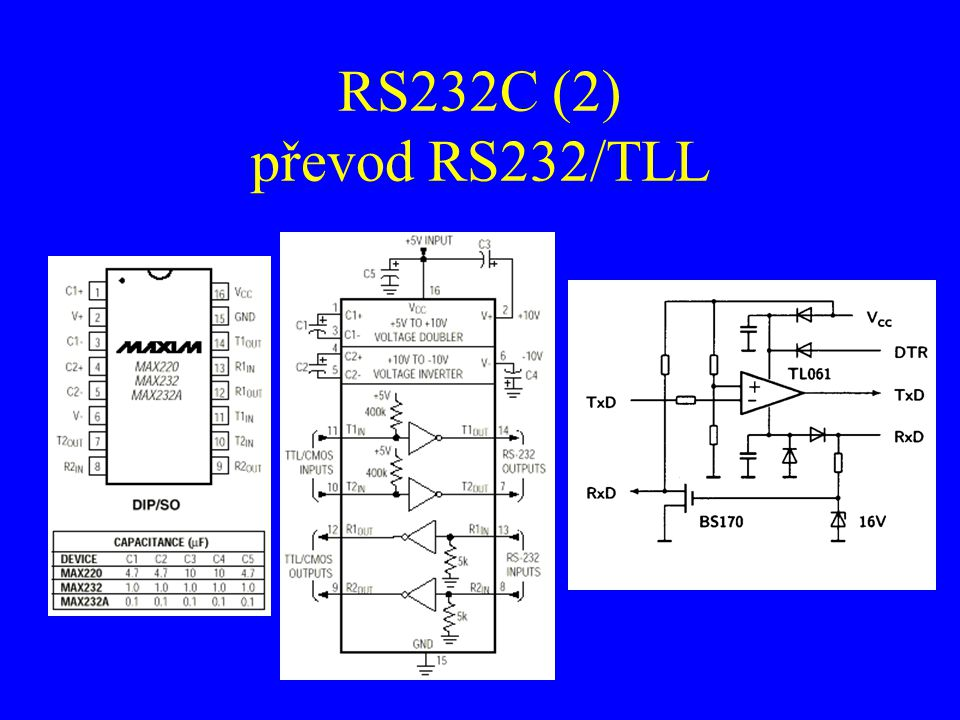 RS232C (2) převod RS232/TLL
