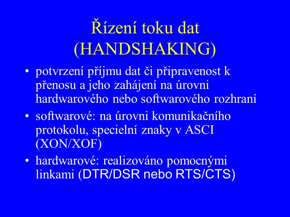 Řízení toku dat (HANDSHAKING)