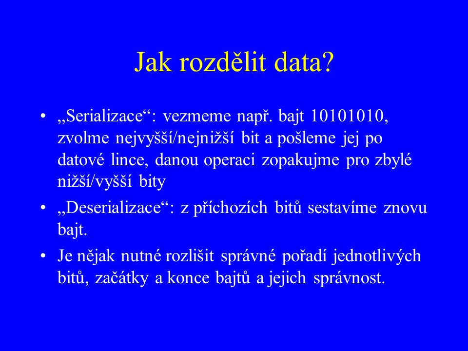 Jak rozdělit data