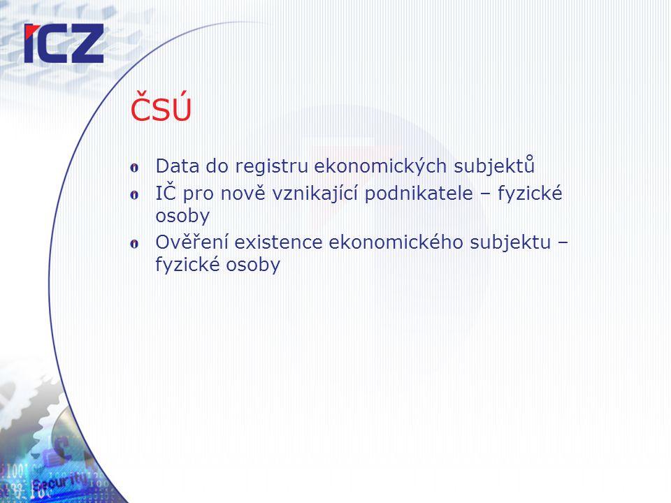 ČSÚ Data do registru ekonomických subjektů