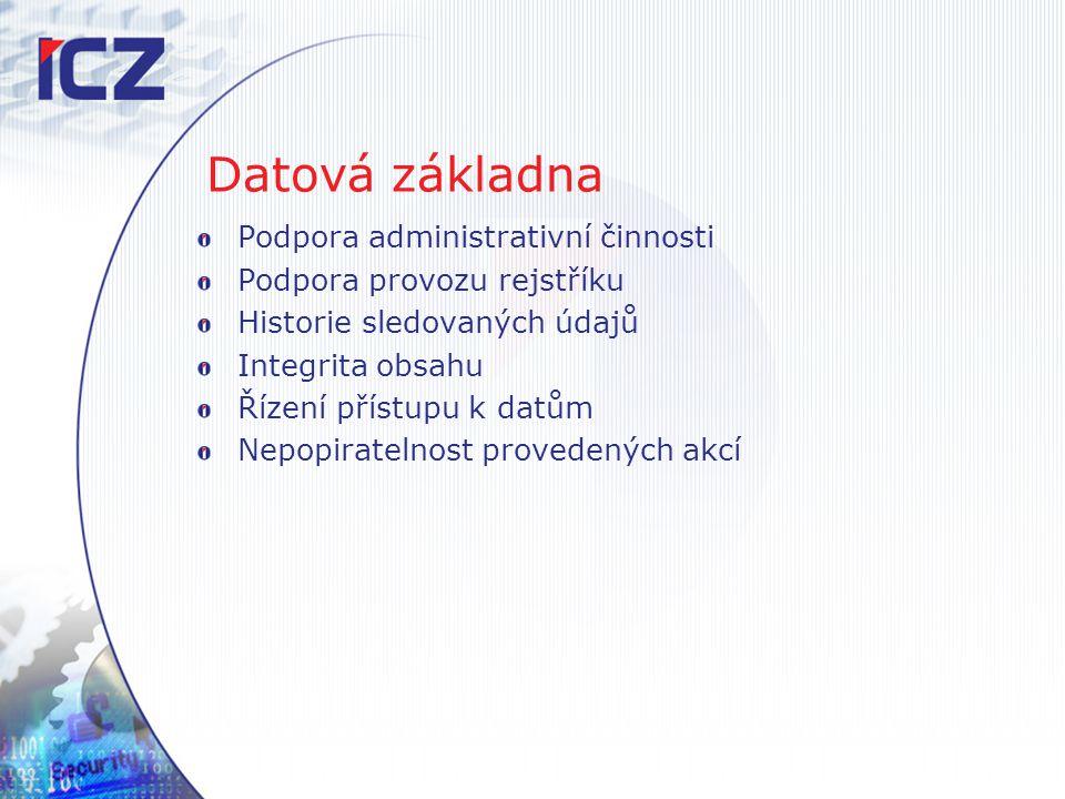 Datová základna Podpora administrativní činnosti