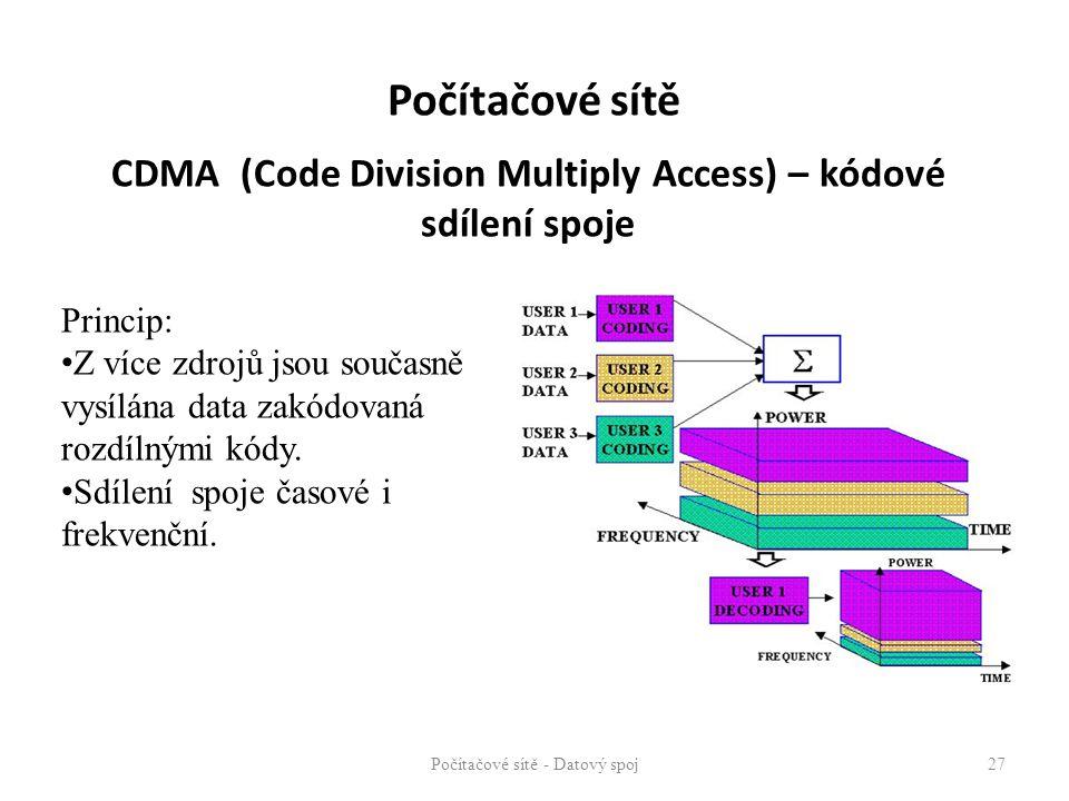 CDMA (Code Division Multiply Access) – kódové sdílení spoje