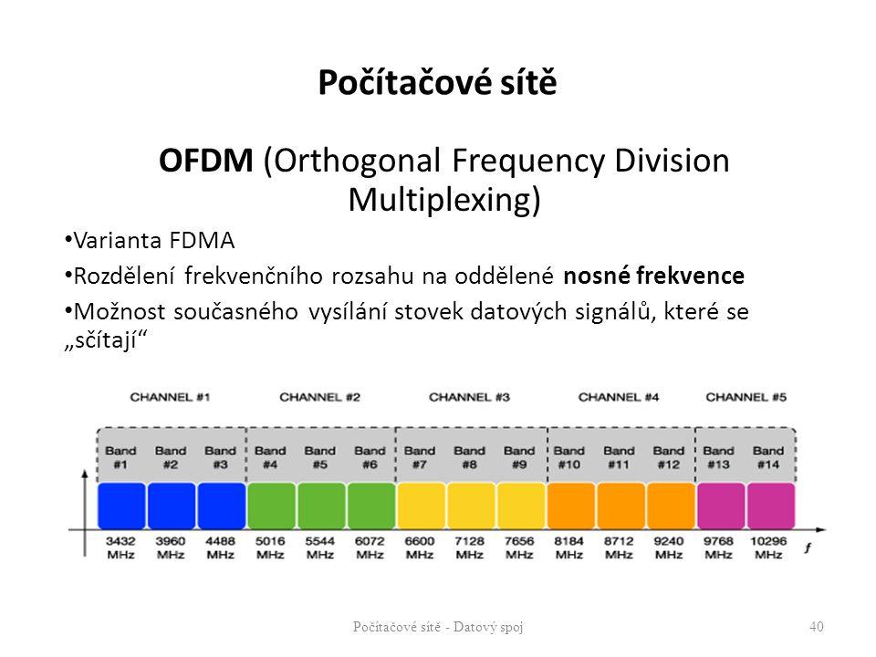 Počítačové sítě OFDM (Orthogonal Frequency Division Multiplexing)