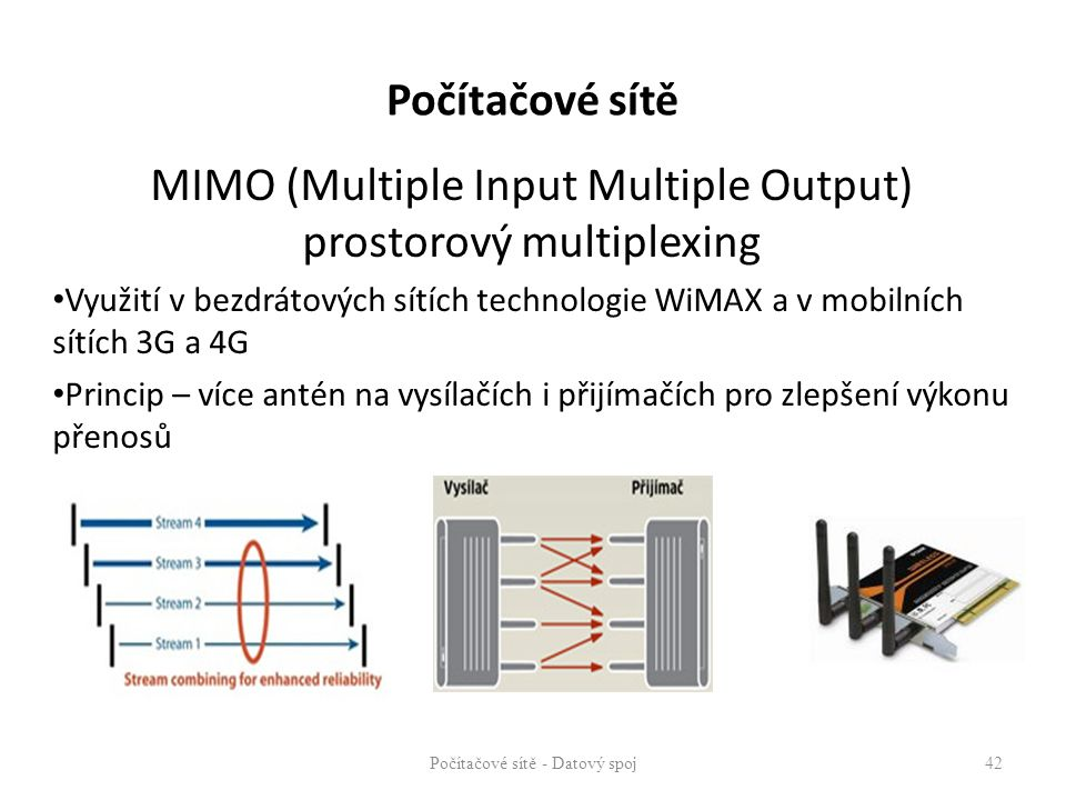 MIMO (Multiple Input Multiple Output) prostorový multiplexing