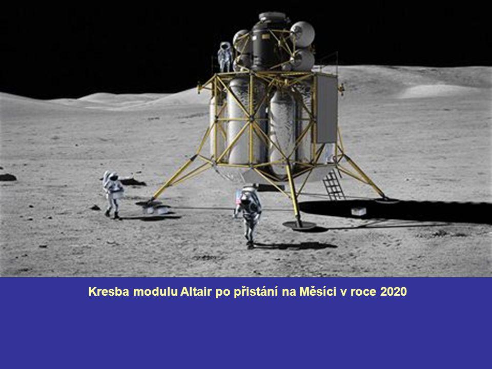Kresba modulu Altair po přistání na Měsíci v roce 2020