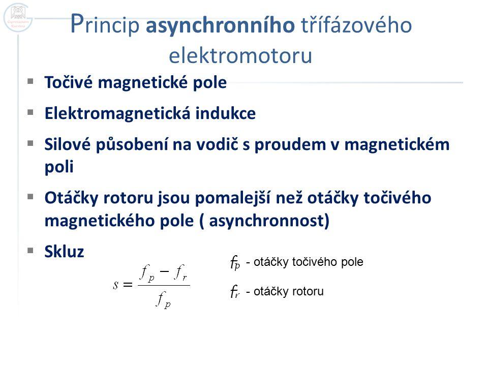 Princip asynchronního třífázového elektromotoru