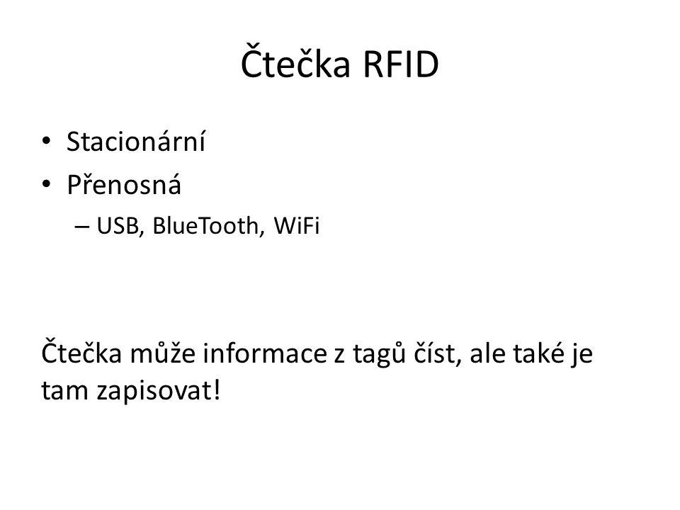 Čtečka RFID Stacionární Přenosná