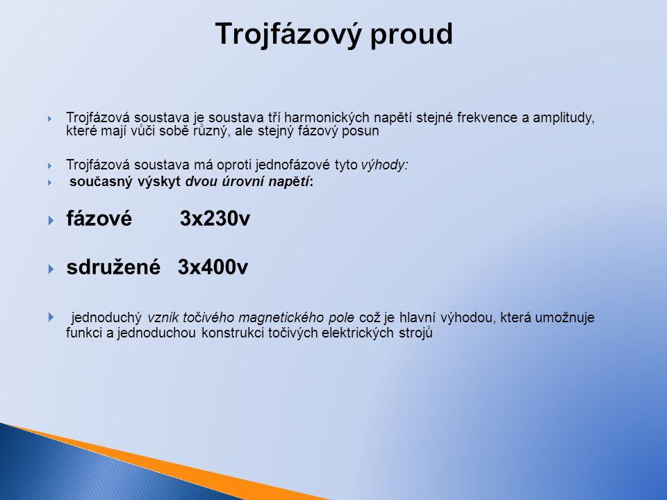 Trojfázový proud fázové 3x230v sdružené 3x400v