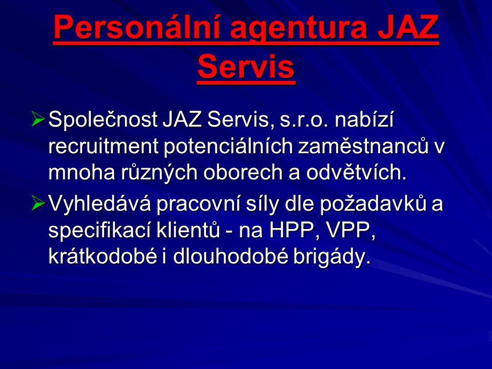 Personální agentura JAZ Servis