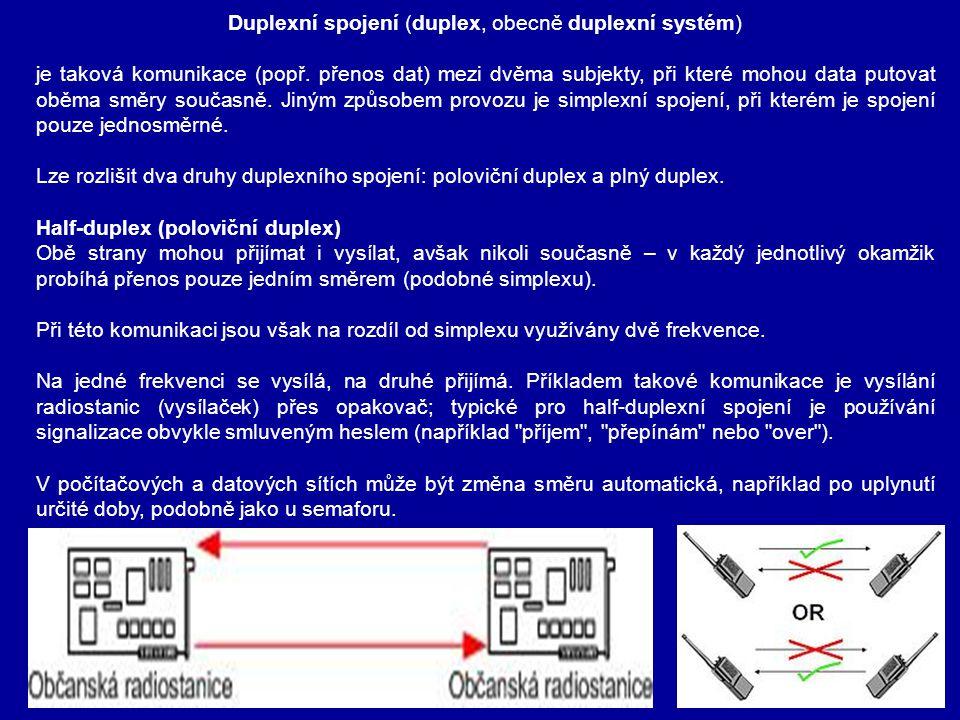 Duplexní spojení (duplex, obecně duplexní systém)