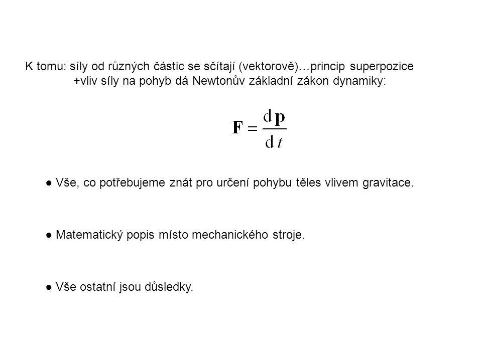 K tomu: síly od různých částic se sčítají (vektorově)…princip superpozice