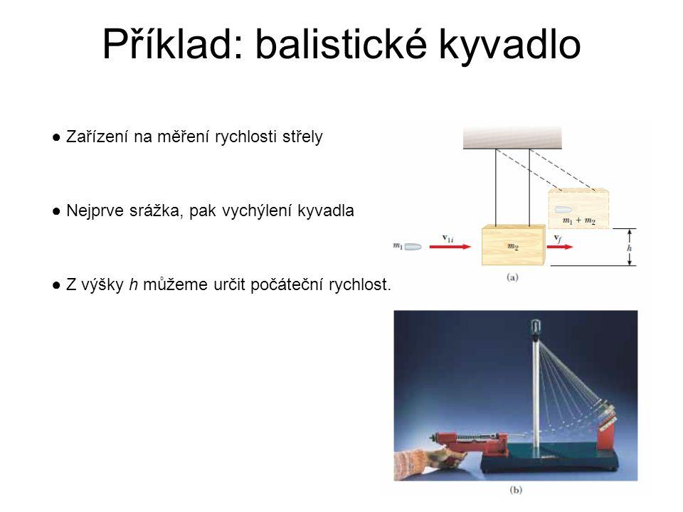 Příklad: balistické kyvadlo