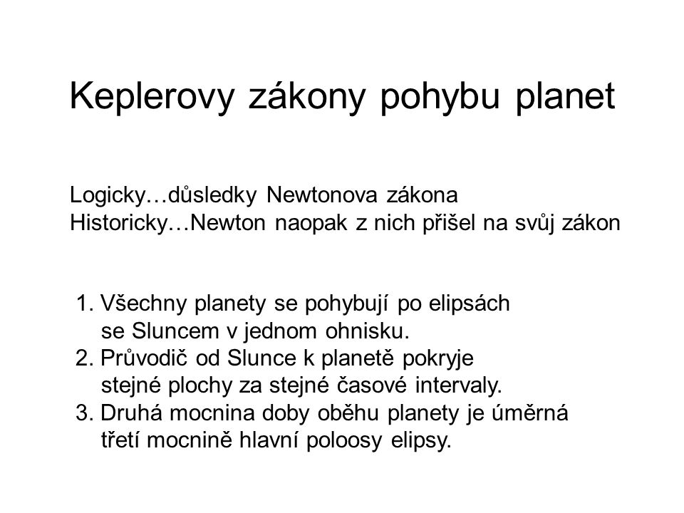 Keplerovy zákony pohybu planet