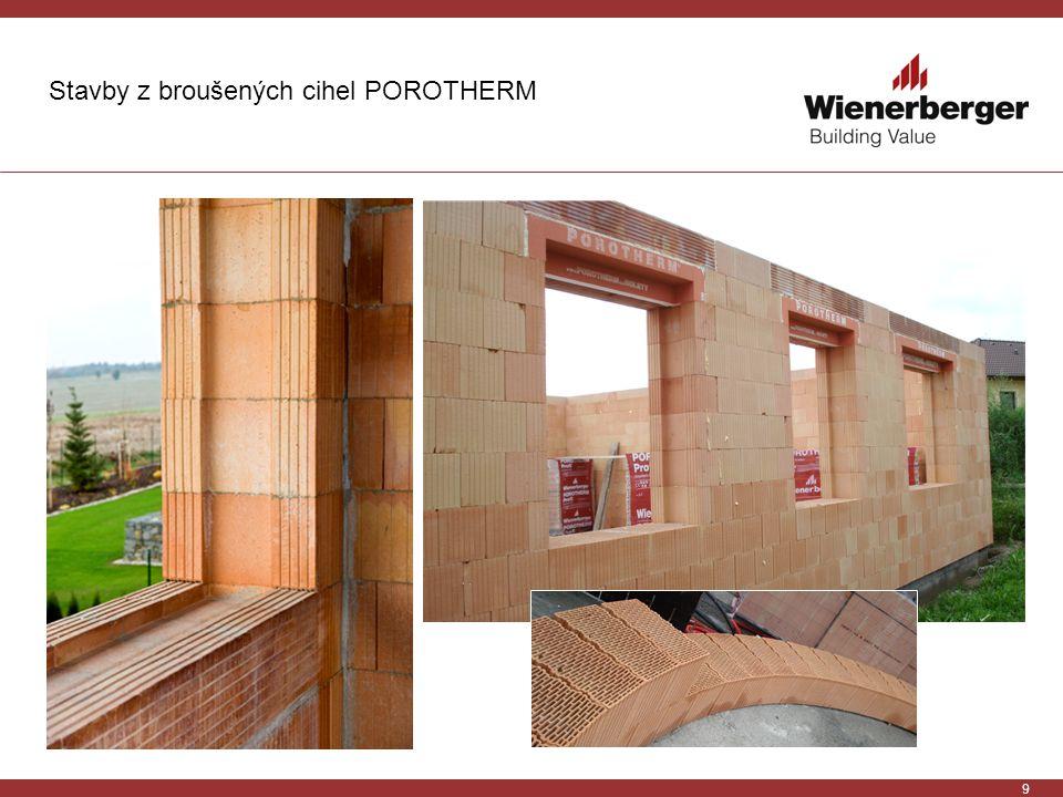 Stavby z broušených cihel POROTHERM