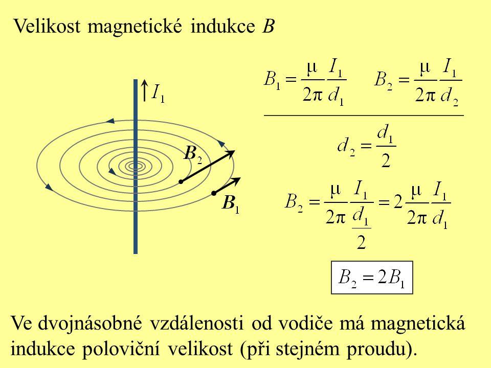 Velikost magnetické indukce B