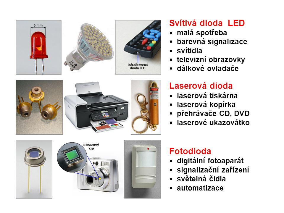 Svítivá dioda LED Laserová dioda Fotodioda malá spotřeba