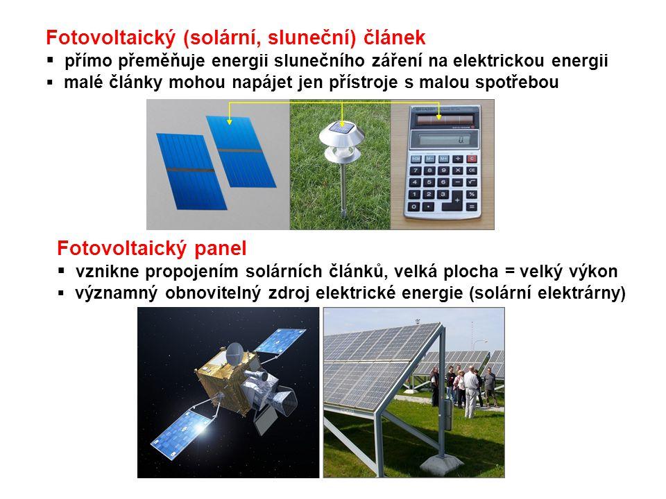 Fotovoltaický (solární, sluneční) článek