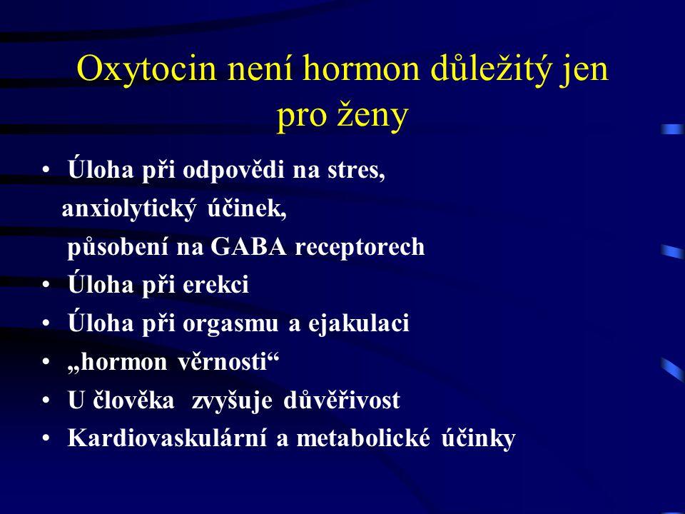Oxytocin není hormon důležitý jen pro ženy