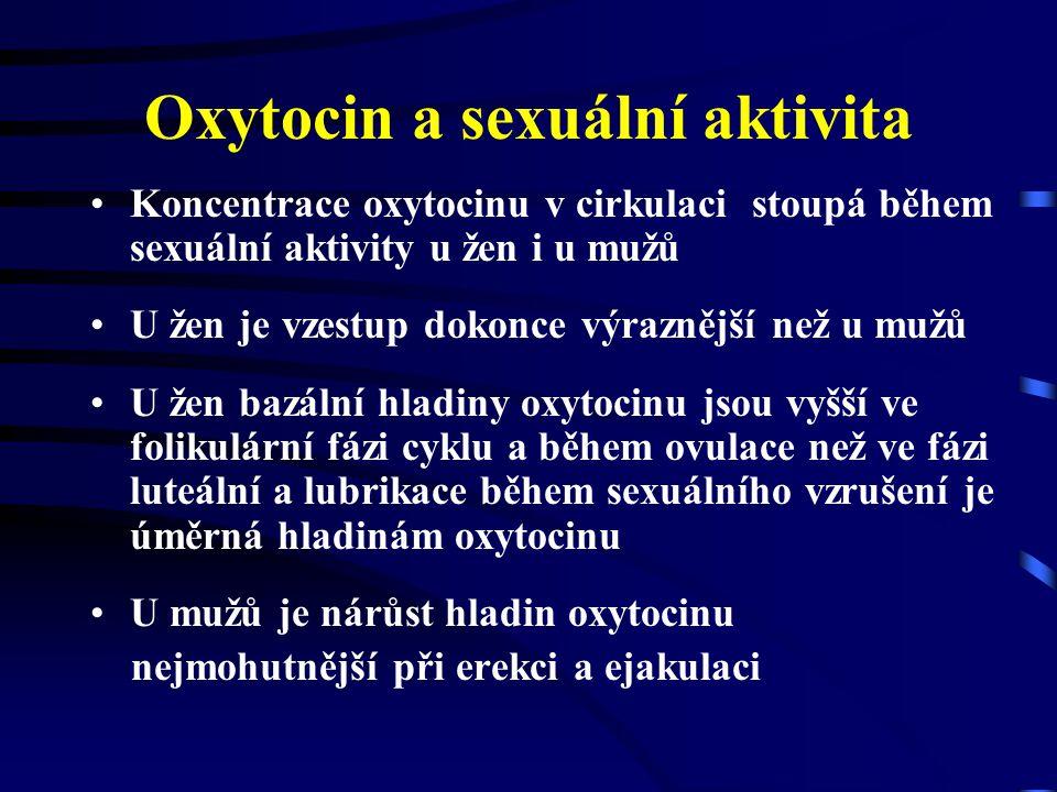 Oxytocin a sexuální aktivita