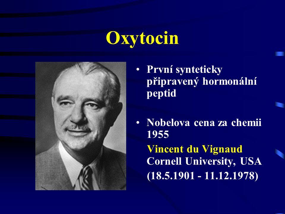 Oxytocin První synteticky připravený hormonální peptid