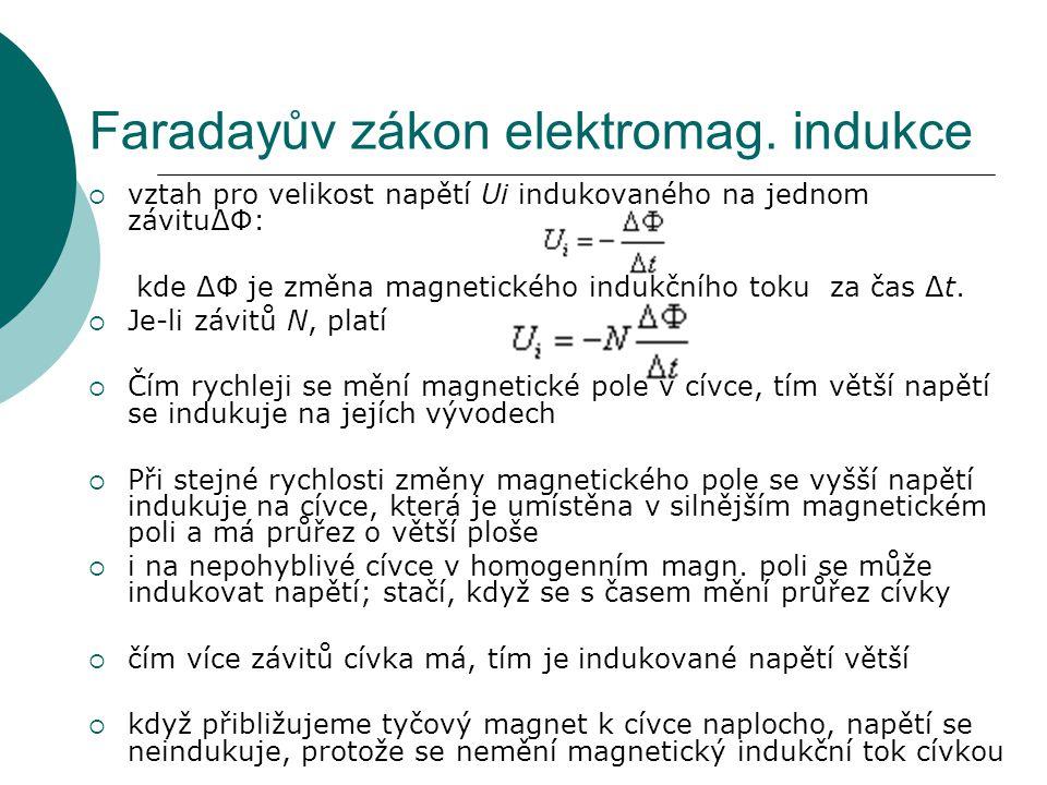 Faradayův zákon elektromag. indukce
