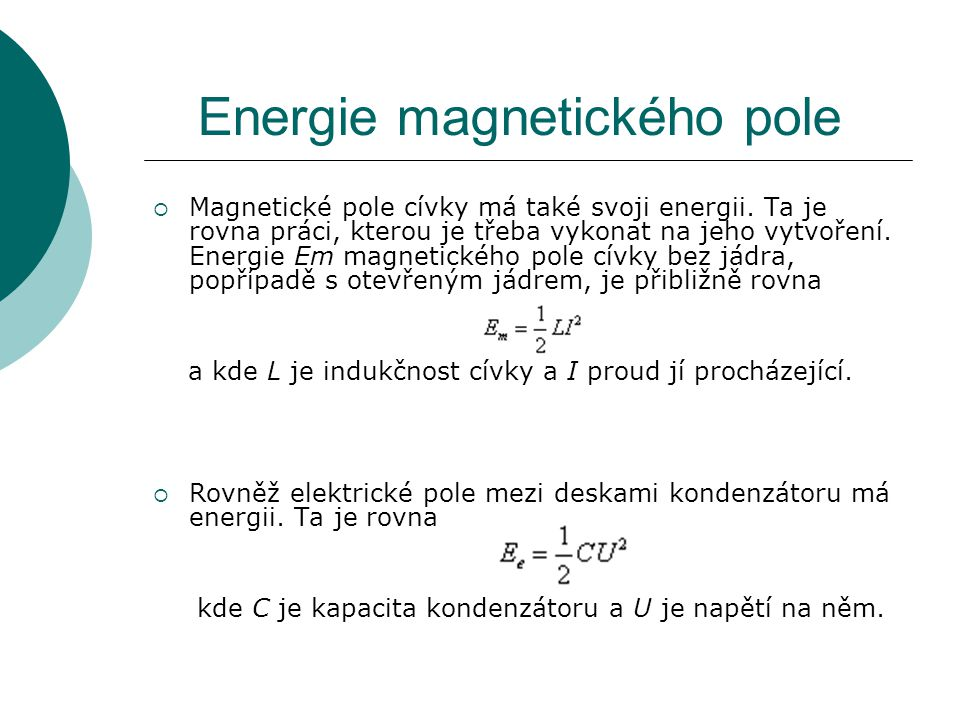 Energie magnetického pole