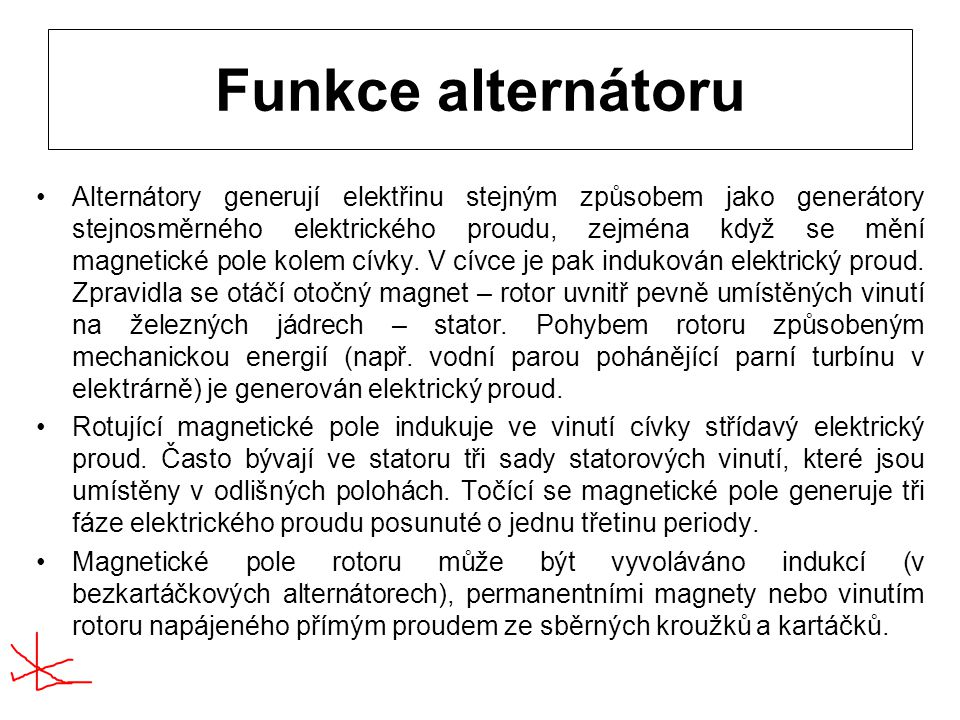 Funkce alternátoru