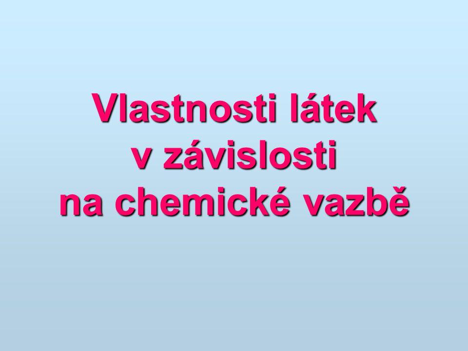 Vlastnosti látek v závislosti na chemické vazbě