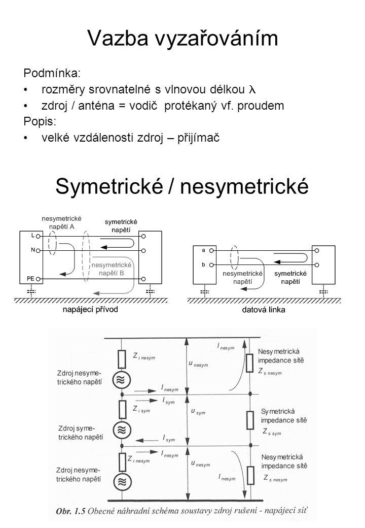 Symetrické / nesymetrické