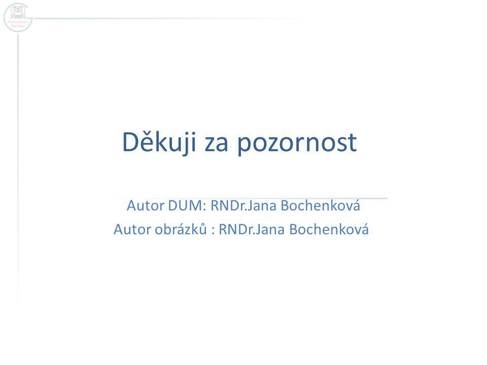 Autor DUM: RNDr.Jana Bochenková Autor obrázků : RNDr.Jana Bochenková