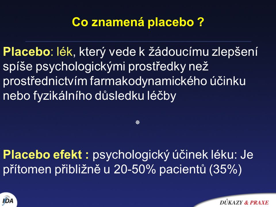 Co znamená placebo